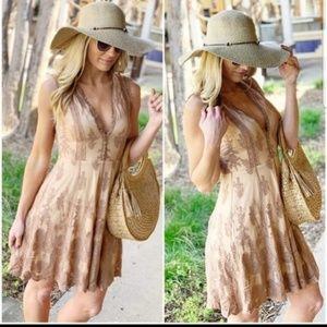 Infinity Raine Dresses - Mocha lace dress